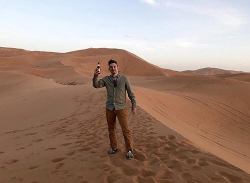 Patrick Mondaca in the Moroccan desert, 2019. Photo courtesy of Patrick Mondaca.