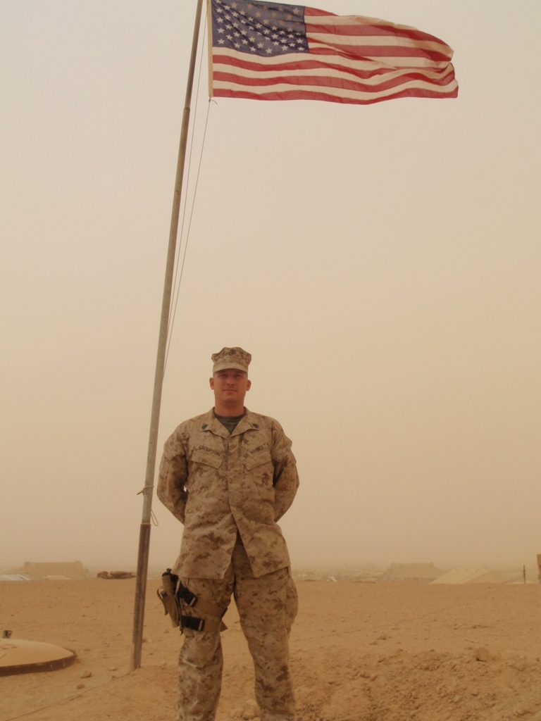 Marine Bruce Thompson in Iraq. Image used with permission.